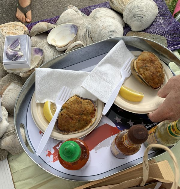 stuffed clams ready to eat summer 2019