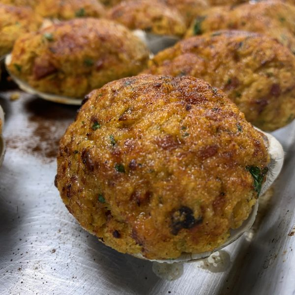baked stuffed clams with chorizo