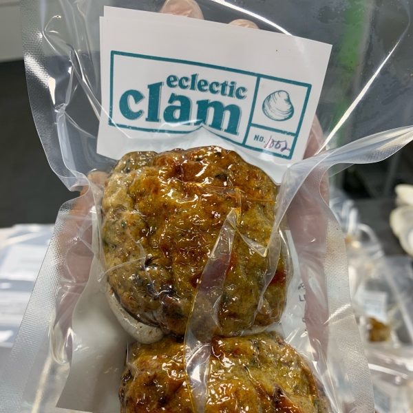 stuffed clams vacuum packed and sealed to ensure freshness